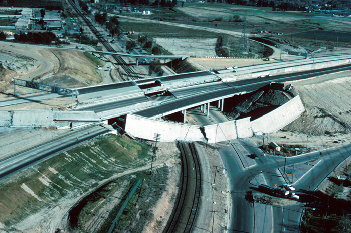 1971 Sylmar Earthquake: San Fernando highway overpass collapse