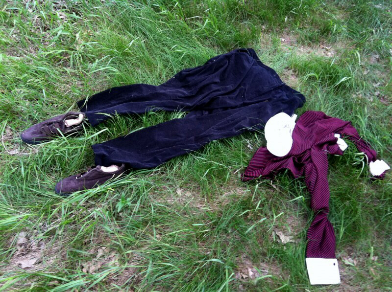 Madison police are investigating a strange find Sunday in Olin-Turville Park where 30 sets of clothes, some with burn marks, along with wallets, watches and keys, were found in a circle the day after the Rapture was predicted to take place.