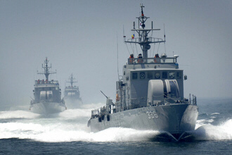 South Korean Navy patrol boats retaliated against North Korean warships