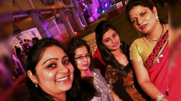 A selfie click of four women of the Bhatia family