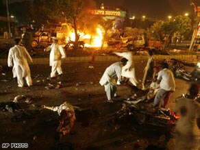 A suicide bomber killed at least 124 people