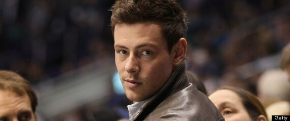 Actor Cory Monteith attends the NHL game