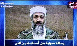 Al-Jazeera has run tapes allegedly from Bin Laden
