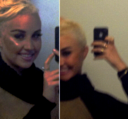 Amanda Bynes shaves side of head