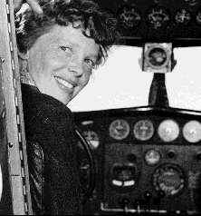 Amelia Earhart just before fatal flight in 1937