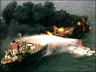 Oil Tanker in Persian Gulf is attacked
