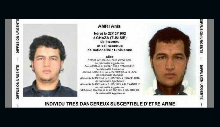 Tunisian Anis Amri responsible for ISIS Berlin attack