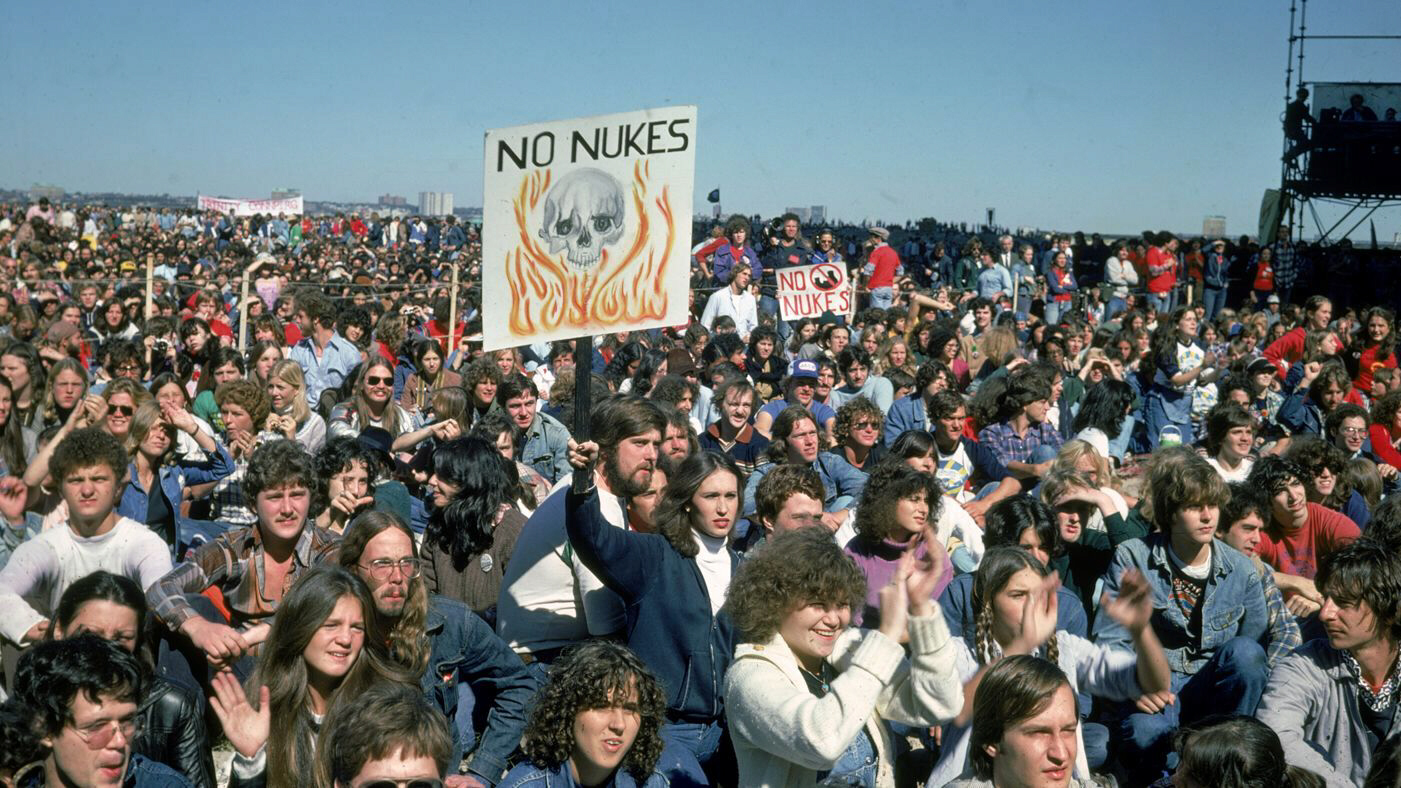 Anti-nuclear war rally in 1983
