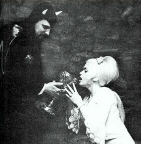 Anton LaVey and Jayne Mansfield:  Jayne Mansfield drinks from the chalice of Satan
