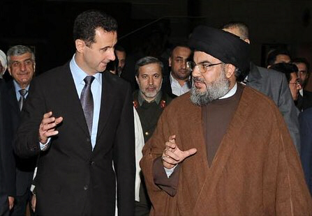 Assad with Hezbollah's Nasrallah discuss the destruction of Israel