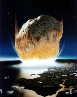 Asteroid impacts in Aegean or Ionian Sea - [Artwork courtesy of NASA - no copyright]