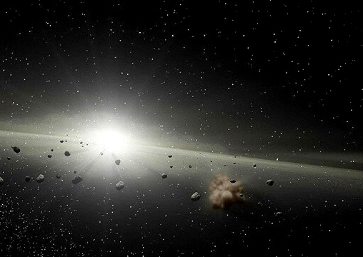 Asteroids collide, pulverising each other