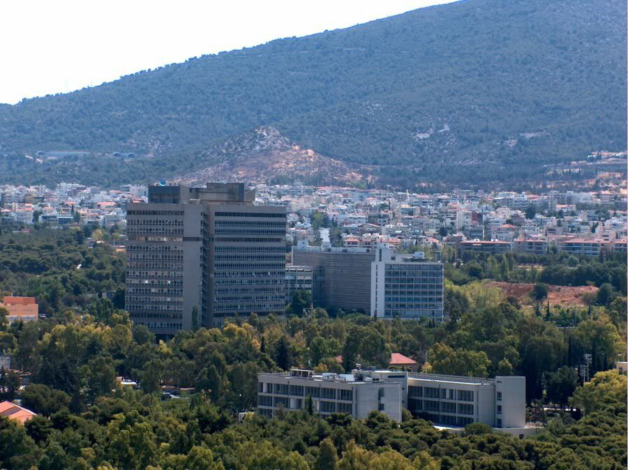 Athens and Mount Hymettus