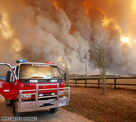 Australian bushfires death toll had hit 35 when this photo was taken.