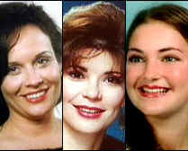 Authorities say Gina Wilson Green, Pam Kinamore and Charlotte Murray Pace, from left, were killed by the same man