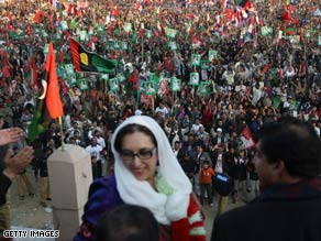 Bhutto was assassinated after the campaign rally