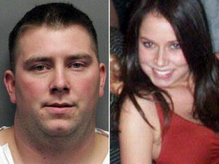 Suspect James Biela (L) is charged with the abduction and the sex strangulation slaying of university coed Brianna Denison [R] as well as a string of other rapes in the university area.  He is also a suspect in other possible murders in the US.
