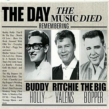 Buddy Holly, Richie Valens, Big Bopper die in Feb. 1959 plane crash