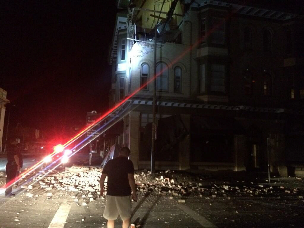 Building destroyed in Napa
