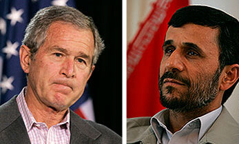 Ahmadinejad awaits Bush