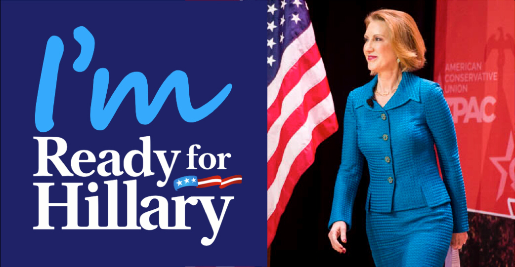 Carly Fiorina is running against Hillary Clinton for President in 2016