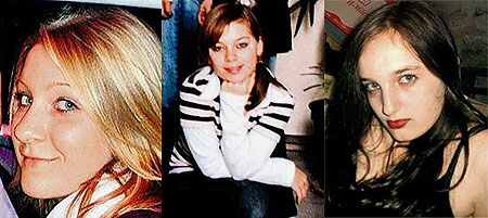 Three of the slain girls in Winnenden: Chantal Schill, 16, Jana Schober, 14, Steffi, 16