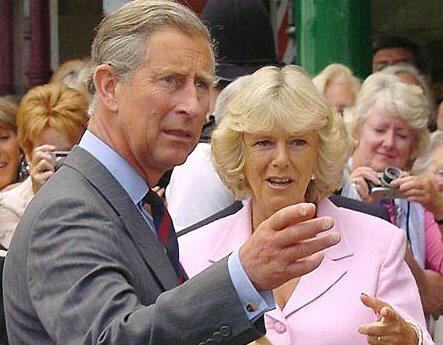 Prince Charles, now possibly King George, reacts with surprise at sound of gunshot.