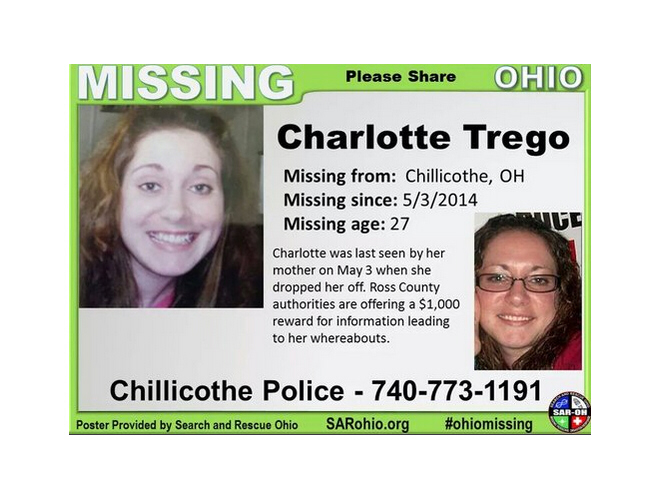 Charlotte Trego has been missing since May 3, 2014