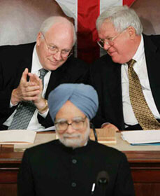 President Dick Cheney will provide US support to India