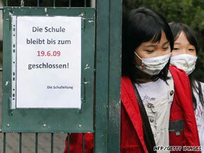 Children leave a Japanese school in Germany