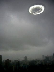 UFO hovers over Chinese airport