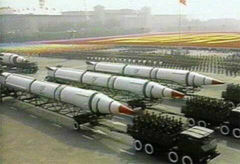 China parades part of its DF-4 arsenal