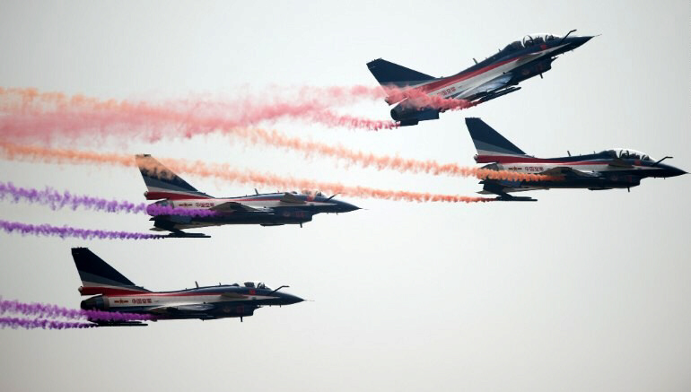 China's J-10 fighter jets preparing for possible conflict