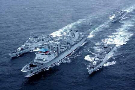 Chinese naval forces off California said to be on Joint UFO Suppression Mission with United States