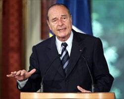Chirac speaks out against Iran