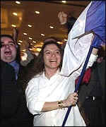 Chirac supporters celebrate in Strasbourg