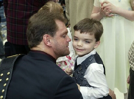 Chris Benoit and son Daniel