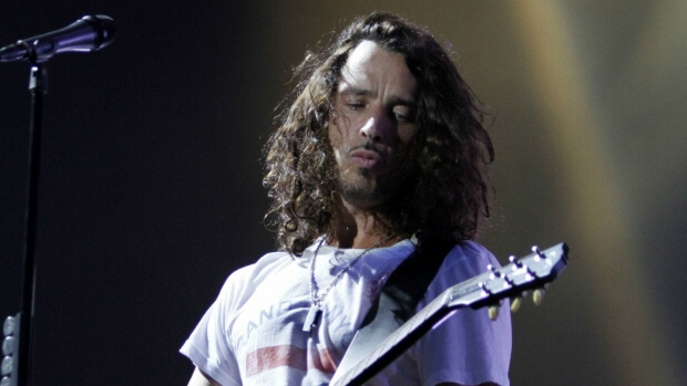 Chris Cornell of Soundgarden performs during Lollapalooza music festival