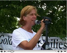 Grief-stricken mother Cindy Sheehan is whipping up a frenzy of anti-Bush sentiment