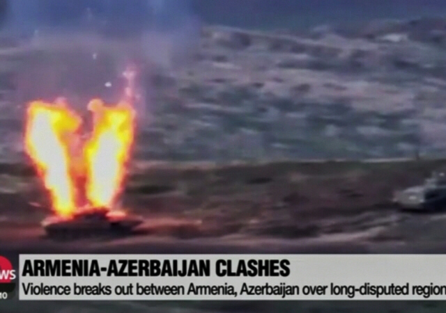 Clashes break out between Armenia and Azerbaijan over disputed region
