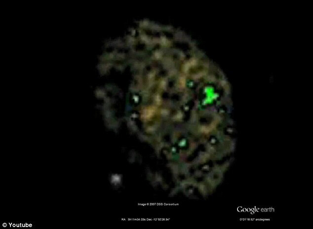 Close-up of asteroid that was spotted on Google Sky