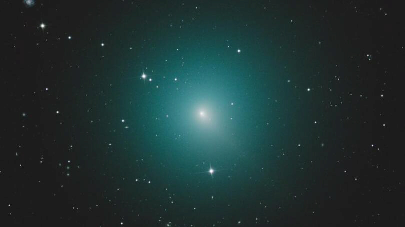 Comet 46P-Wirtanen glows green