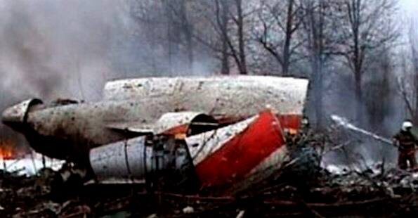 Crash scene of the Polish presidents plane.