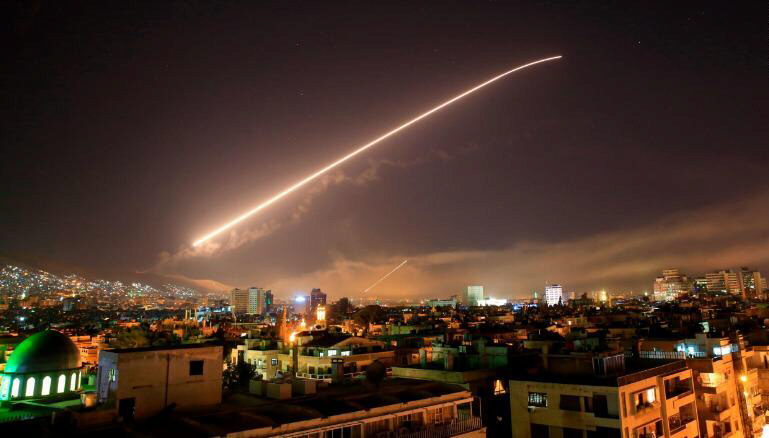 Cruise missile strikes on Damascus