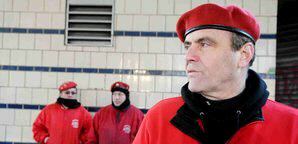 Curtis Sliwa and the Guaredian Angels patrol Kensington Avenue