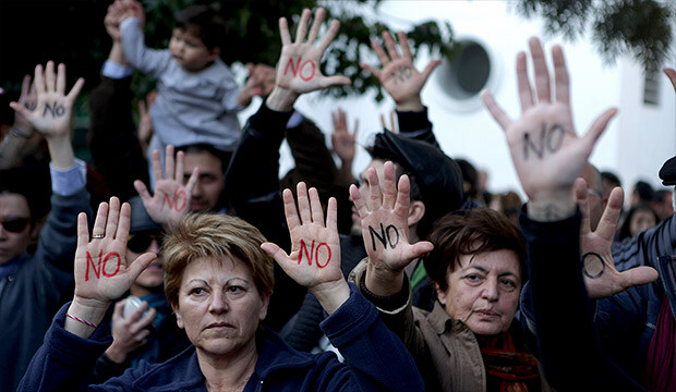 Cypriots protest EU bailout and levy on bank deposits