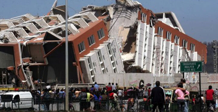 Damage from Chile's 8.3 magnitude earthquake: did the Big One come to Chile eight months early?