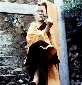 David Carradine as the Shaolin monk Caine in 'Kung Fu'