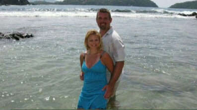 David Michael Hartley, 30, pictured here with wife Tiffany, was gunned down in Mexican waters by pirates