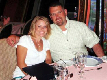 David Michael Hartley, pictured with wifeTiffany, is believed to have been shot dead by Mexican pirates as he was jet skiing on Lake Falcon